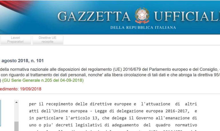 Adeguamento al GDPR: oggi entra in vigore la normativa italiana. Cosa sapere?