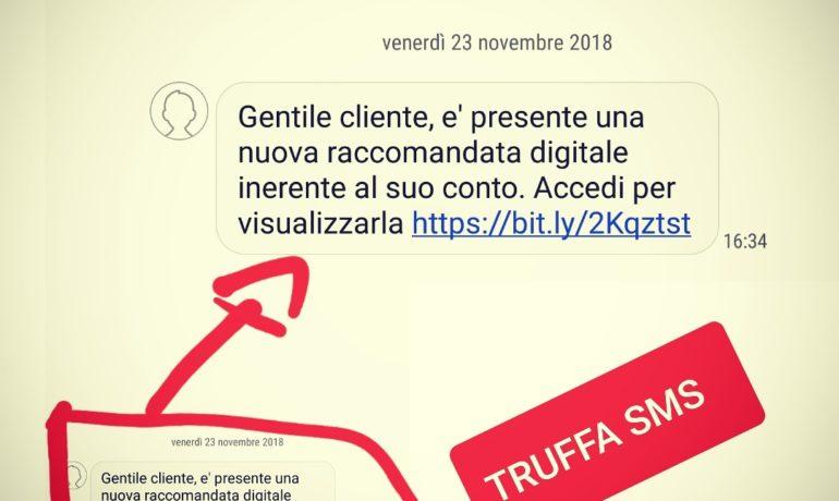 """Truffa SMS: analisi del fenomeno """"InfoSMS nuova raccomandata digitale"""""""