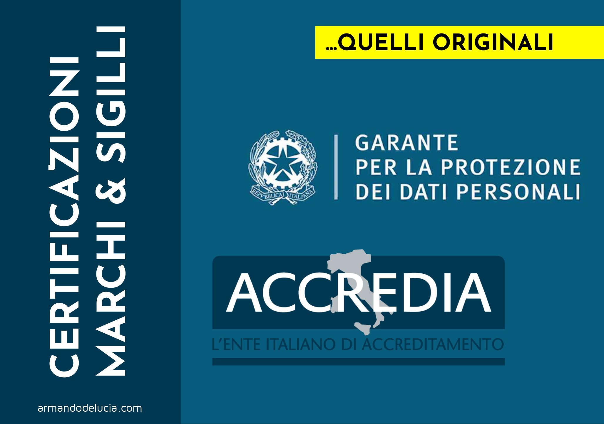GDPR Firmato l'accordo per le VERE certificazioni sulla protezione dati - Armando De Lucia - Legale Informatico - Avvocato 4.0