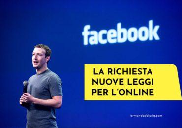 Nuove leggi per l'online: Facebook chiede aiuto ai Governi