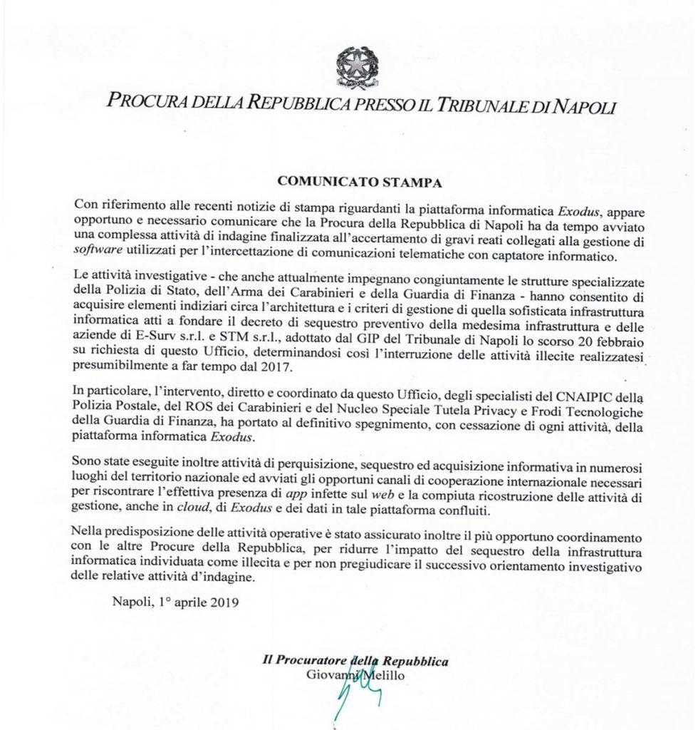 Privacy iphone - Procura di Napoli -- Armando De Lucia - Legale Informatico - Studio Legale